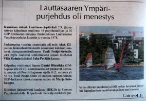 Lauttasaaren ympäripurjehdus 2013